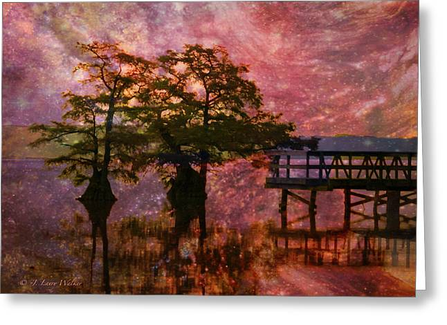 Serenity Sunrise Greeting Card by J Larry Walker