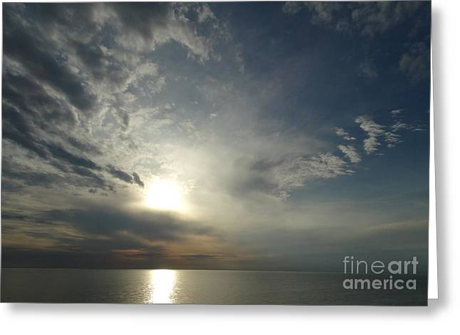 Serenity Sunset Greeting Card by Joseph Baril