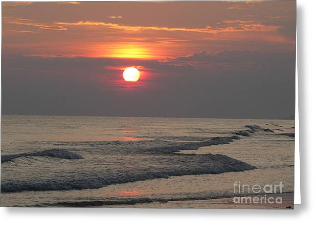Serenity Sunset Greeting Card by Michelle Powell
