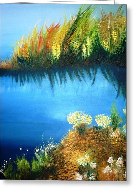 Serenity Greeting Card by Veronica Chauvet