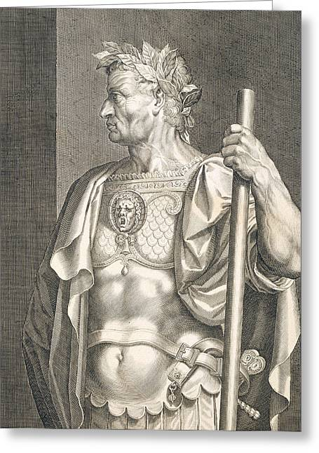 Sergius Galba Emperor Of Rome  Greeting Card by Titian