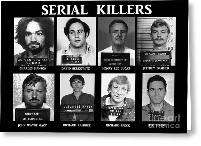 Serial Killers - Public Enemies Greeting Card