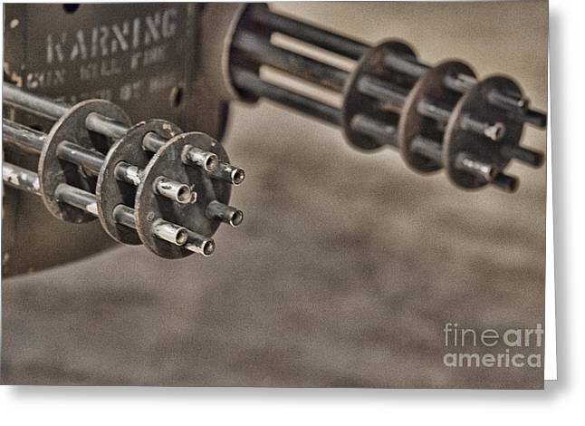 Serious Firepower Greeting Card by Douglas Barnard