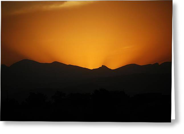 Serious Sunset Greeting Card by Marilyn Hunt