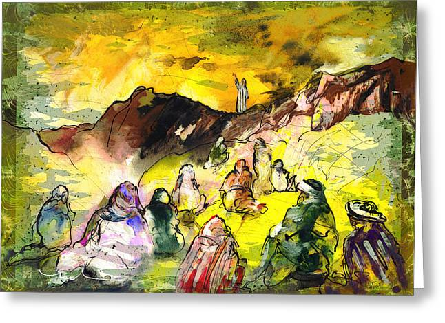 Sermon On Mount Sinai 02 Greeting Card