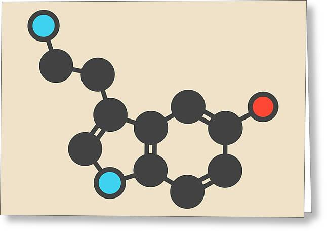 Serotonin Neurotransmitter Molecule Greeting Card by Molekuul