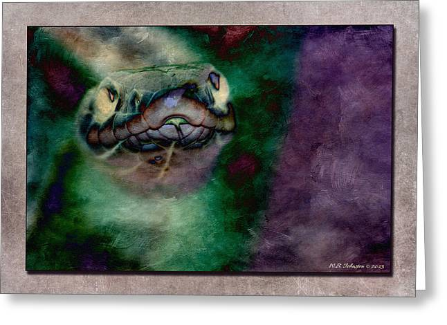 Serpent's Stare Greeting Card