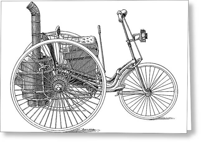 Serpollet Steam Tricycle Greeting Card by Science Photo Library