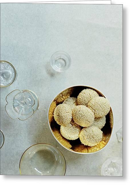 Sesame Cookies Greeting Card