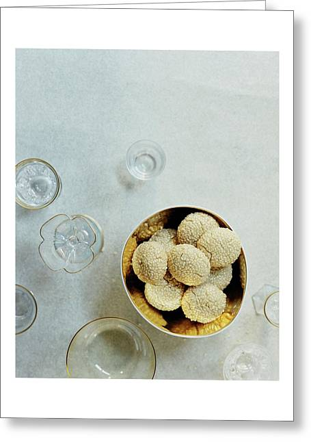 Sesame Cookies Greeting Card