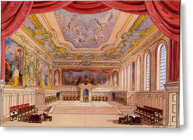 Set Design For The Merchant Of Venice Greeting Card by English School