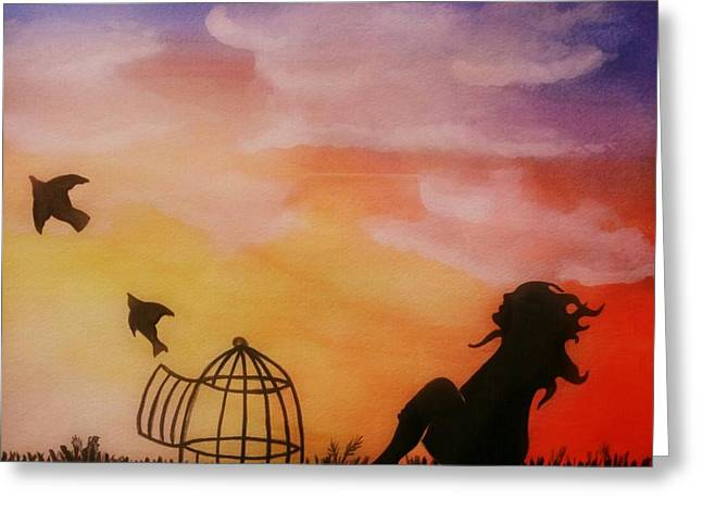 Set Free Greeting Card by Kiara Reynolds