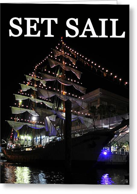 Set Sail Work One Greeting Card by David Lee Thompson
