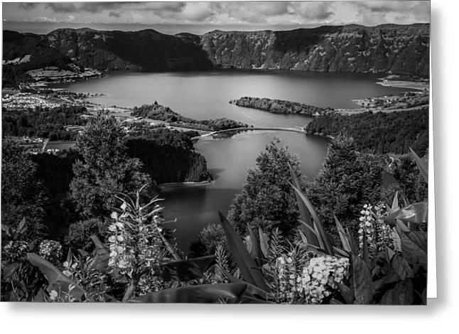 Sete Cidades Lake Greeting Card