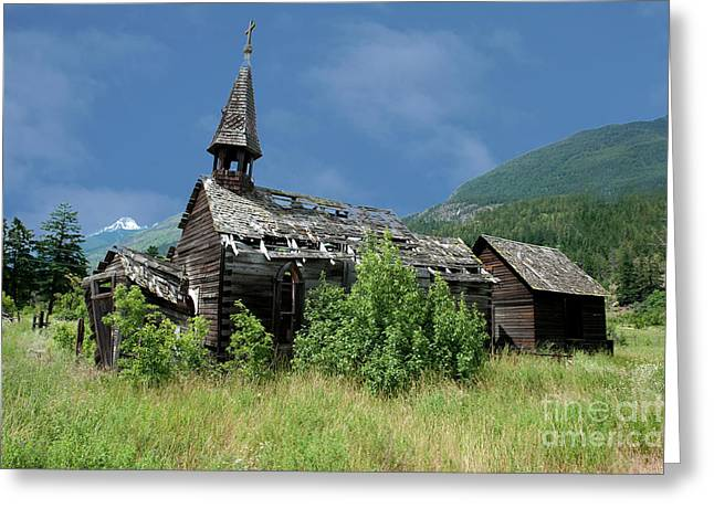 Greeting Card featuring the photograph Seton Portage Church by Rod Wiens