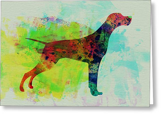 Setter Pointer Watercolor Greeting Card by Naxart Studio