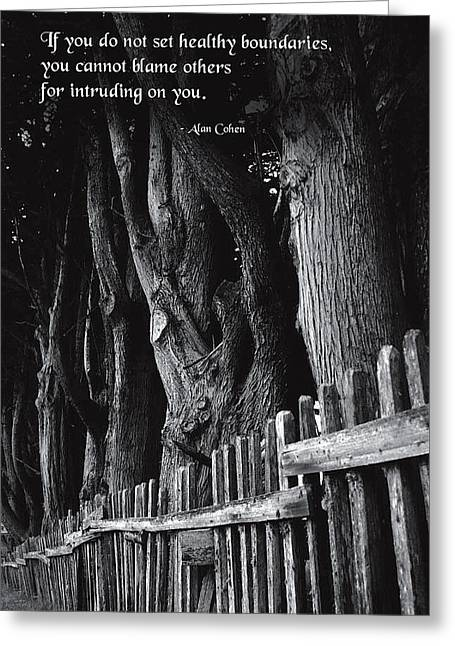 Setting Boundaries Greeting Card by Mike Flynn
