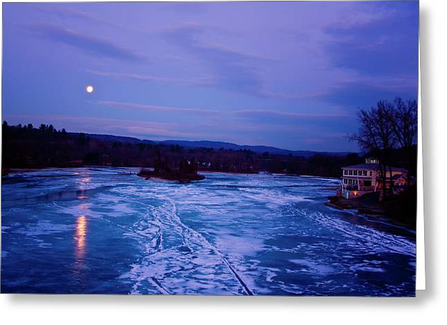 Setting Moon Brattleboro Greeting Card