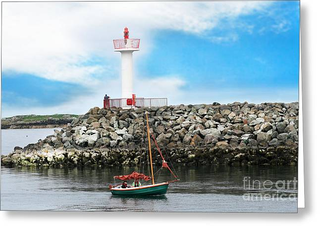 Setting Out Howth Ireland Greeting Card by Jo Collins