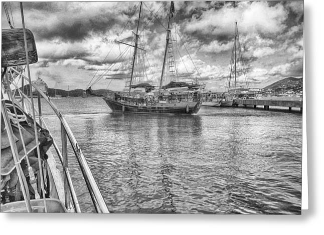 Greeting Card featuring the photograph Setting Sail by Howard Salmon