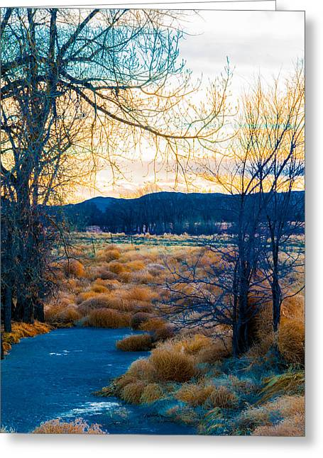 Setting Sun At Rocky Mountain Arsenal_2 Greeting Card