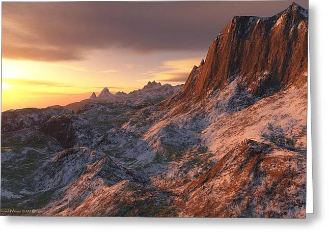 Setting Sun In The High Country Greeting Card by Michael Wimer