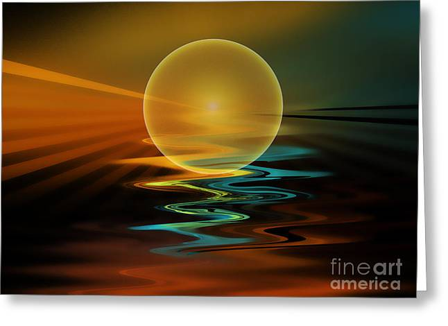 Setting Sun Greeting Card by Klara Acel