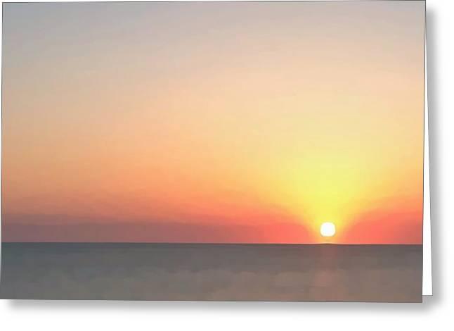 Setting Sun  Greeting Card by Phil Gorham