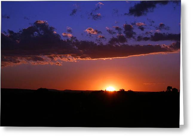 Setting The Western Sky Greeting Card