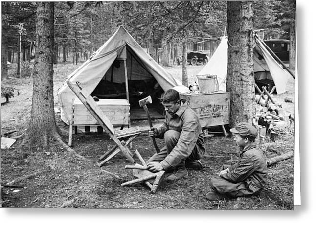 Setting Up Camp Greeting Card