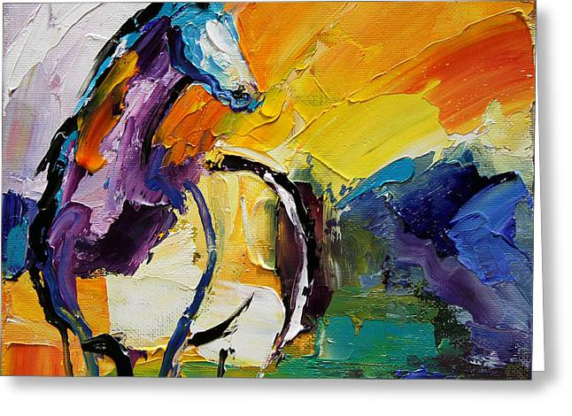 Settled In Horse 5 2014 Greeting Card