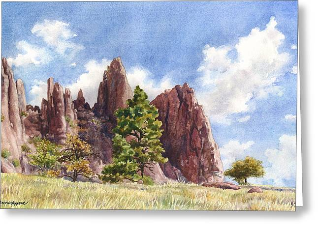 Settler's Park Greeting Card by Anne Gifford