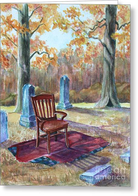 Settling Place Greeting Card by Janet Felts