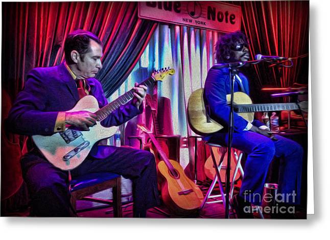 Seu Jorge At The Blue Note Nyc Greeting Card by Lee Dos Santos
