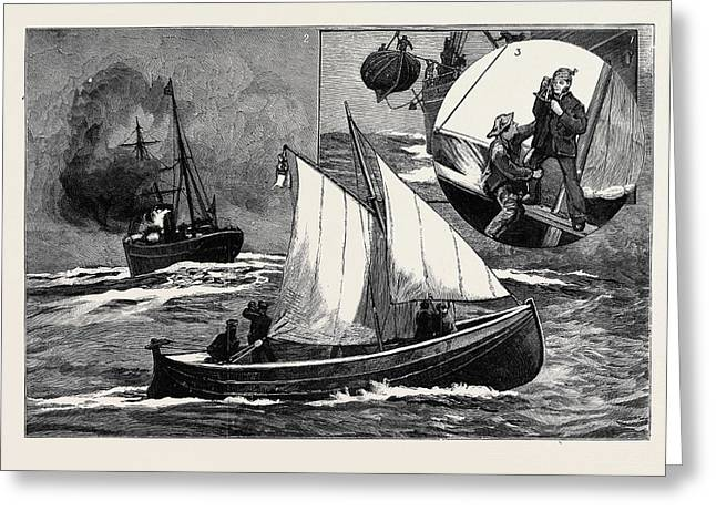 Seven Hundred Miles In The Berthon Collapsible Lifeboat 1 Greeting Card by English School