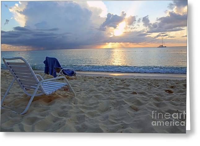 Sunset On Seven Mile Beach Greeting Card