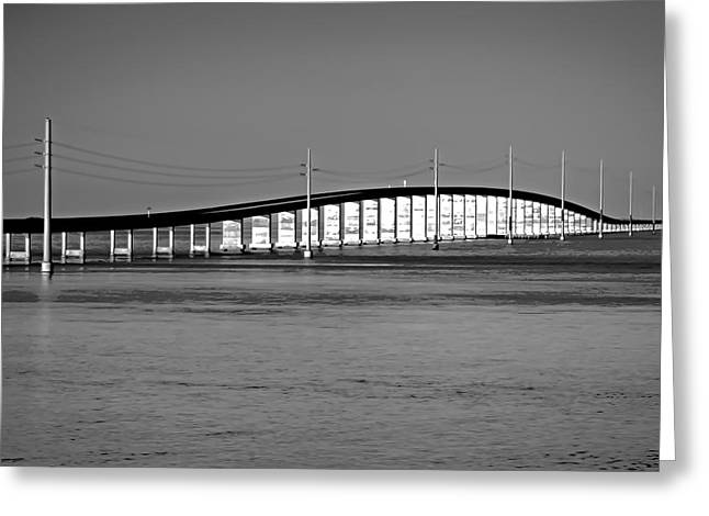 Seven Mile Bridge Crosses Moser Channel Greeting Card by Vaughn Garner