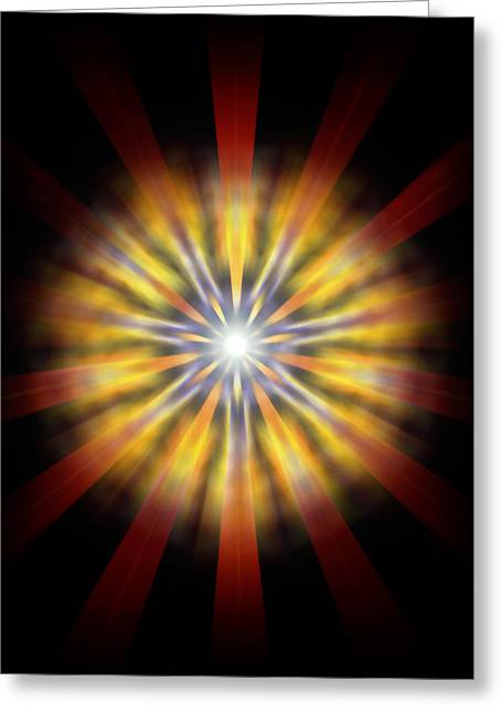 Seven Sistars Of Light Greeting Card
