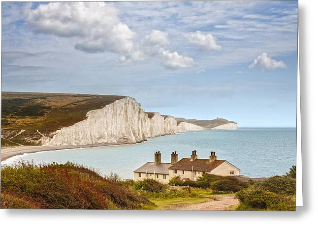 Seven Sisters Cuckmere Haven South Downs Sussex Greeting Card