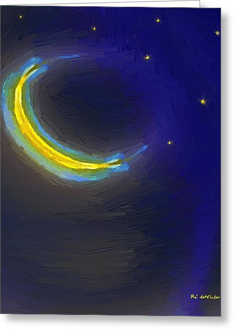 Seven Stars And The Moon Greeting Card