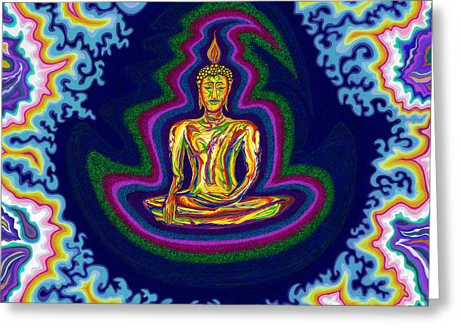 Seventh Heaven Buddha Greeting Card by Robert SORENSEN