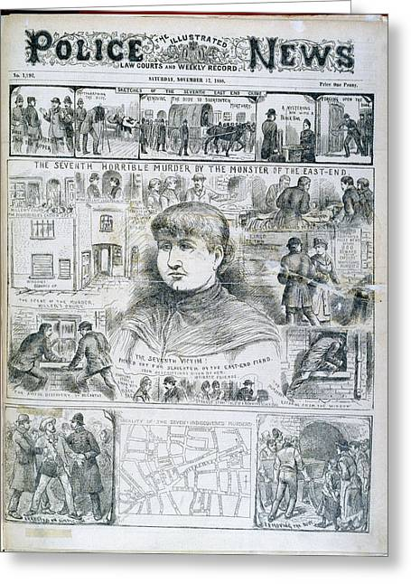 Seventh Ripper Murder Greeting Card by British Library