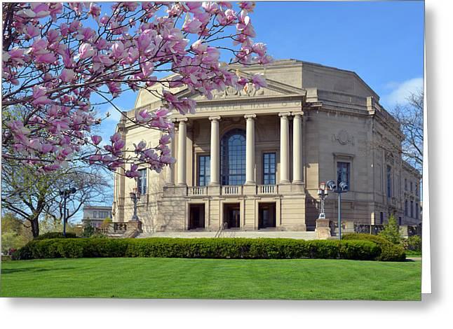 Severance Hall Magnolias  Greeting Card