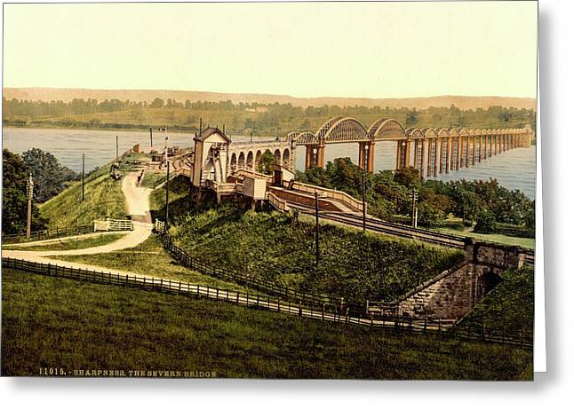 Severn Railway Bridge Greeting Card by Library Of Congress