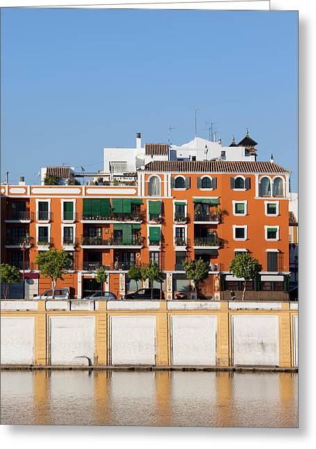 Seville House River View Greeting Card by Artur Bogacki