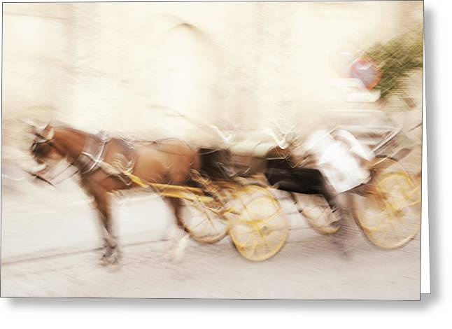 Seville Impression Greeting Card by Jenny Rainbow