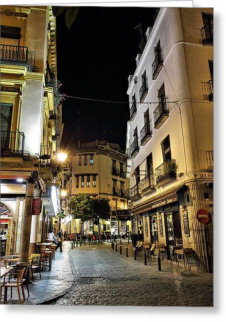 Seville Nights Greeting Card by Pedro Fernandez