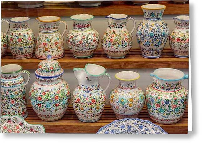 Seville, Spain. Pottery For Sale Greeting Card by Ken Welsh