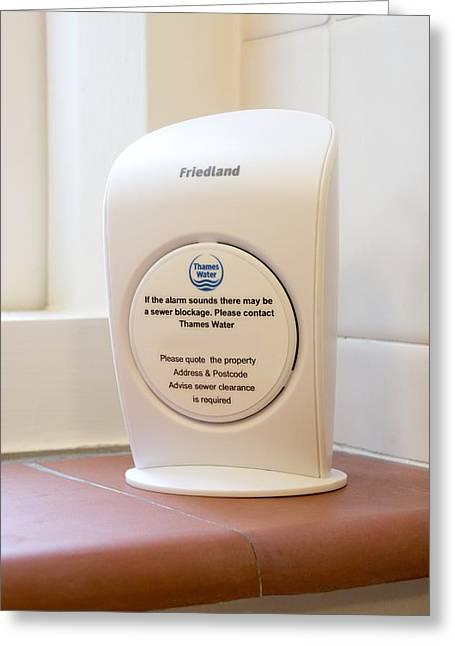 Sewer Alarm Monitor Greeting Card