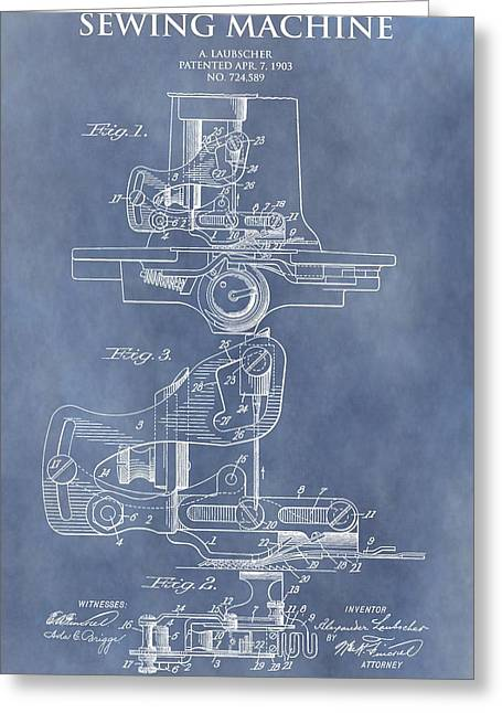 Sewing Machine Patent Greeting Card
